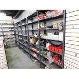 LOT: (9) Steel Shelving Units with Contents of Assorted Parts & Manuals