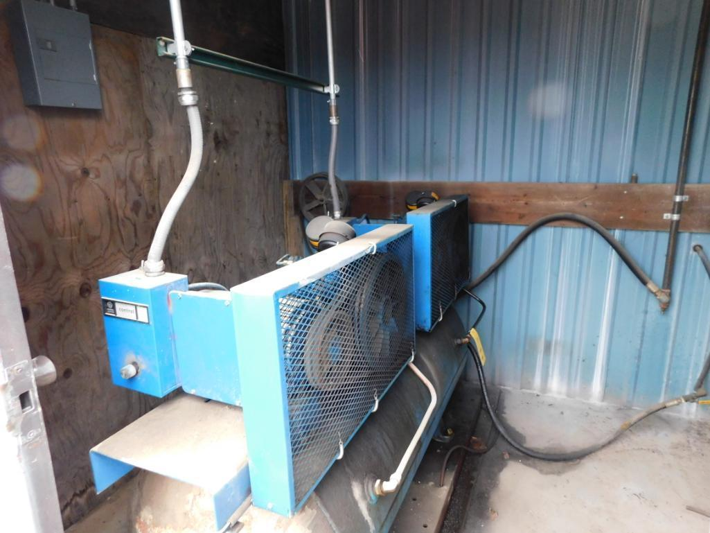 Emglo Dual 5 HP Horizontal Tank Mounted Compressor on Skid - Image 2 of 2