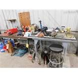 LOT: (2) Work Benches with Contents of Assorted Hand Tools, etc.