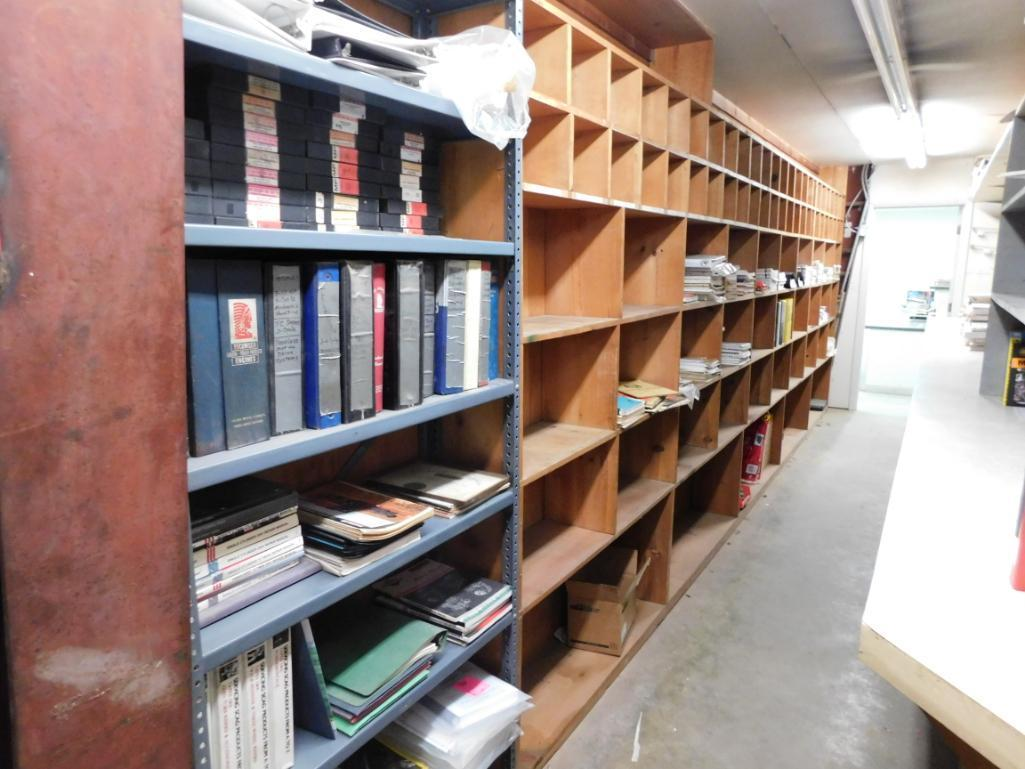 LOT: Contents of Room including Assorted Owners Manuals, Service Manuals & Operators Manuals - Image 3 of 3