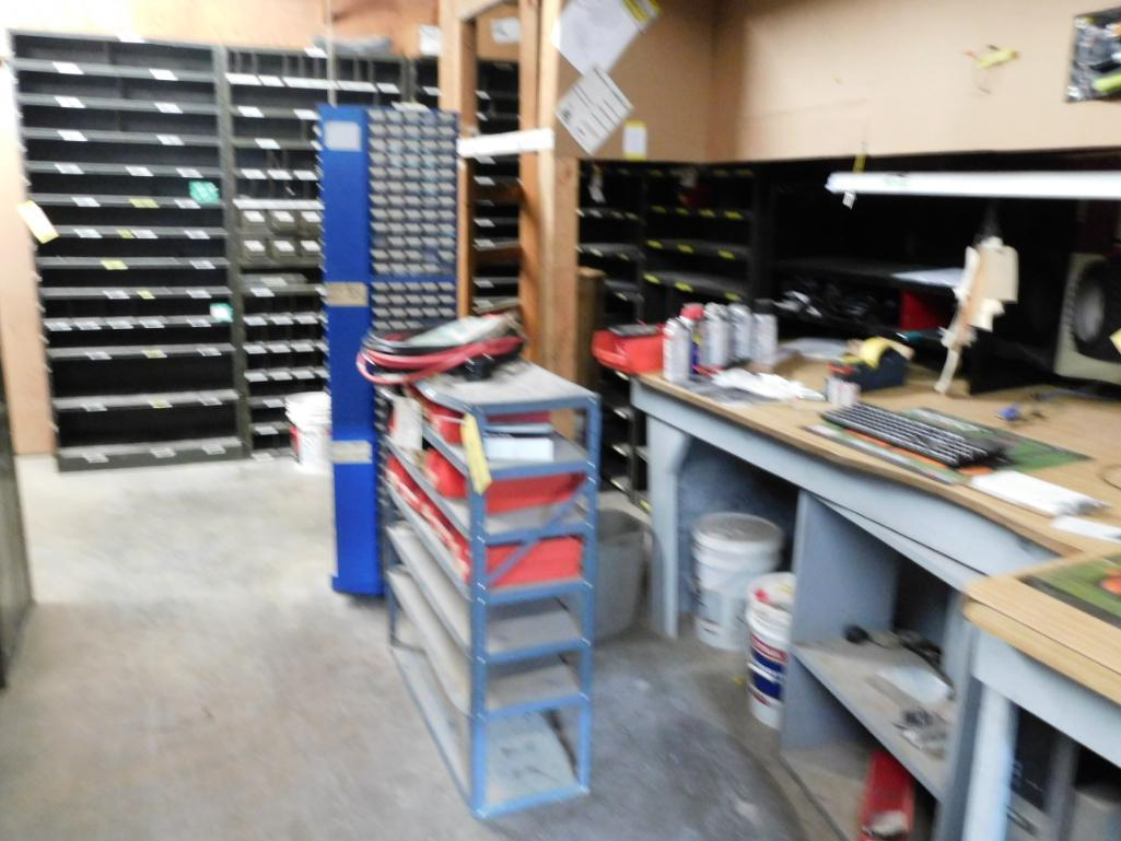 LOT: Contents of Parts Room including Large Quantity of Steel Shelving Units with Contents of Spark - Image 2 of 3