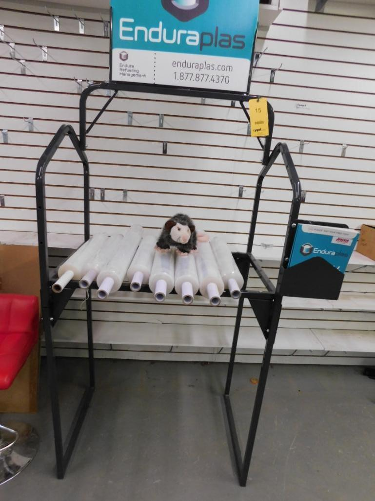 LOT: Display Rack with Stretch Wrap
