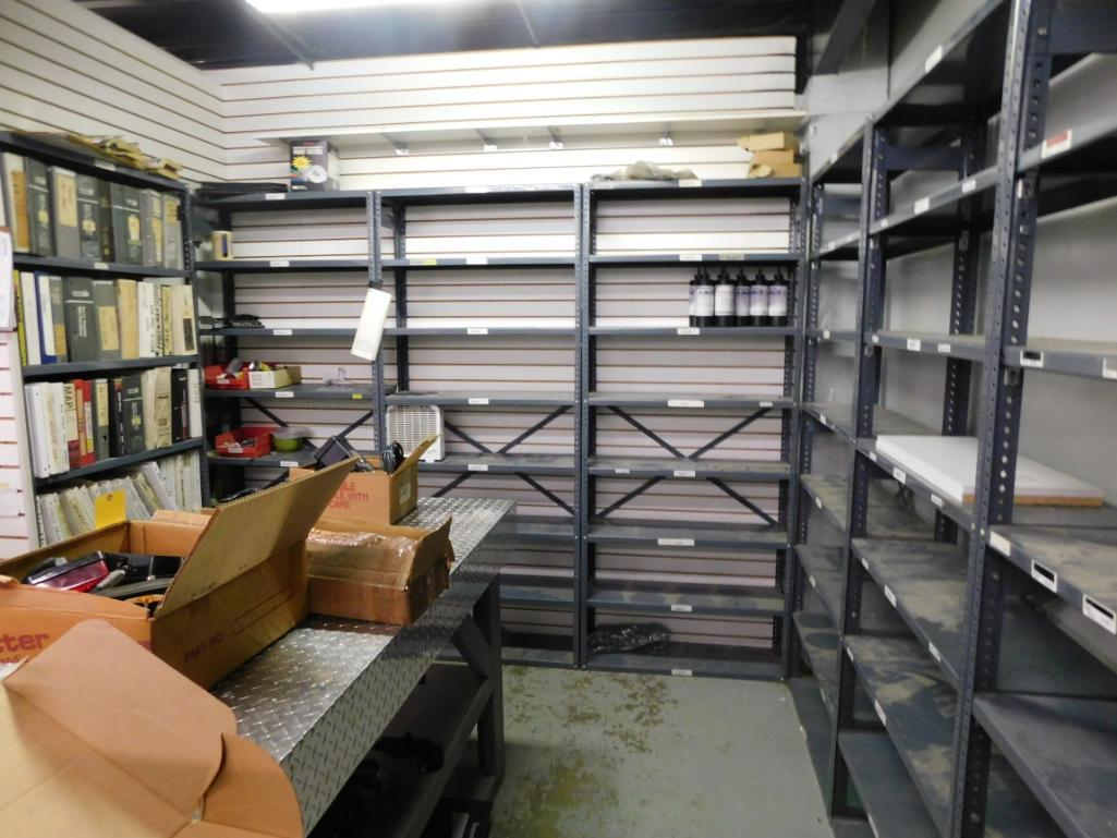 LOT: (9) Steel Shelving Units with Contents of Assorted Parts & Manuals - Image 2 of 2