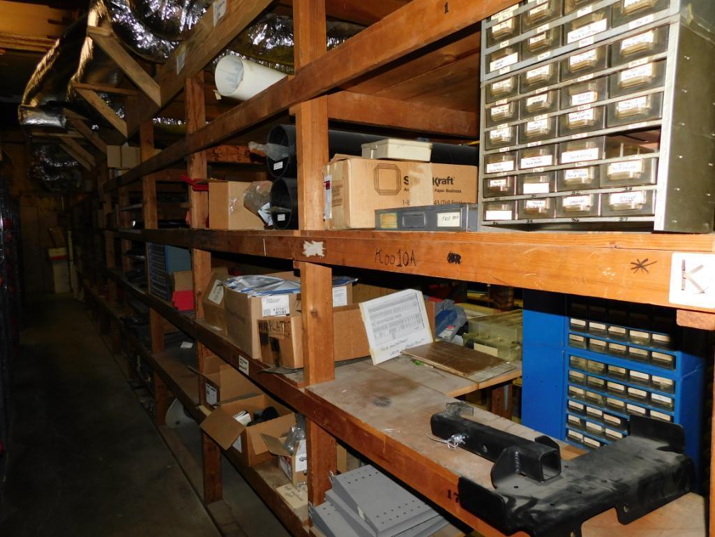 LOT: (1) Row of Shelving (both sides) with Contents of Hardware, Hubs, Bearing Kits, Bush Hog Parts, - Image 4 of 4