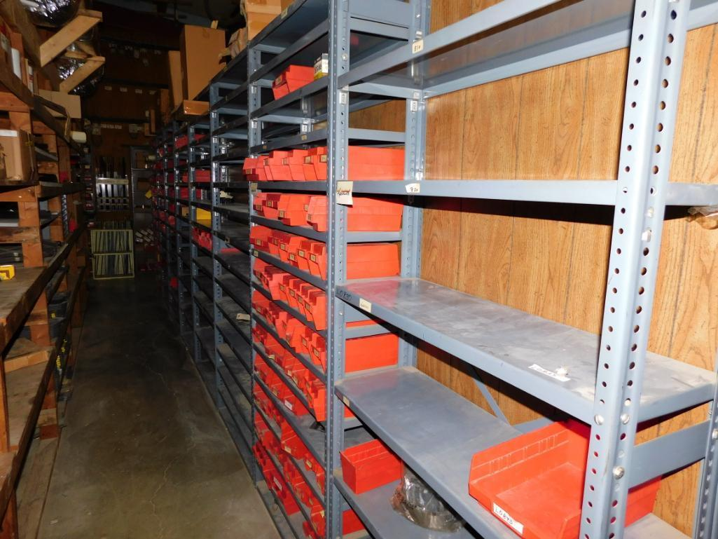 LOT: (1) Row of Steel Shelving (both sides) with Contents of Fertilizer Knives & Accessories, Hardwa - Image 2 of 5