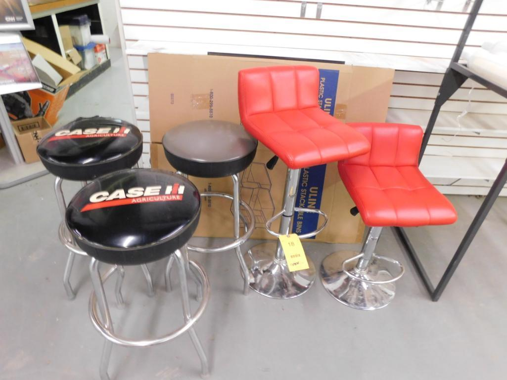 LOT: (5) Assorted Shop Stools