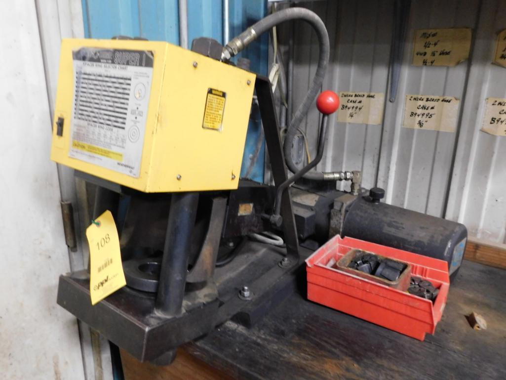 Weatherhead Coll-O-Crimp Hydraulic Fitting Crimper Model T-420 Super 1, with Dies