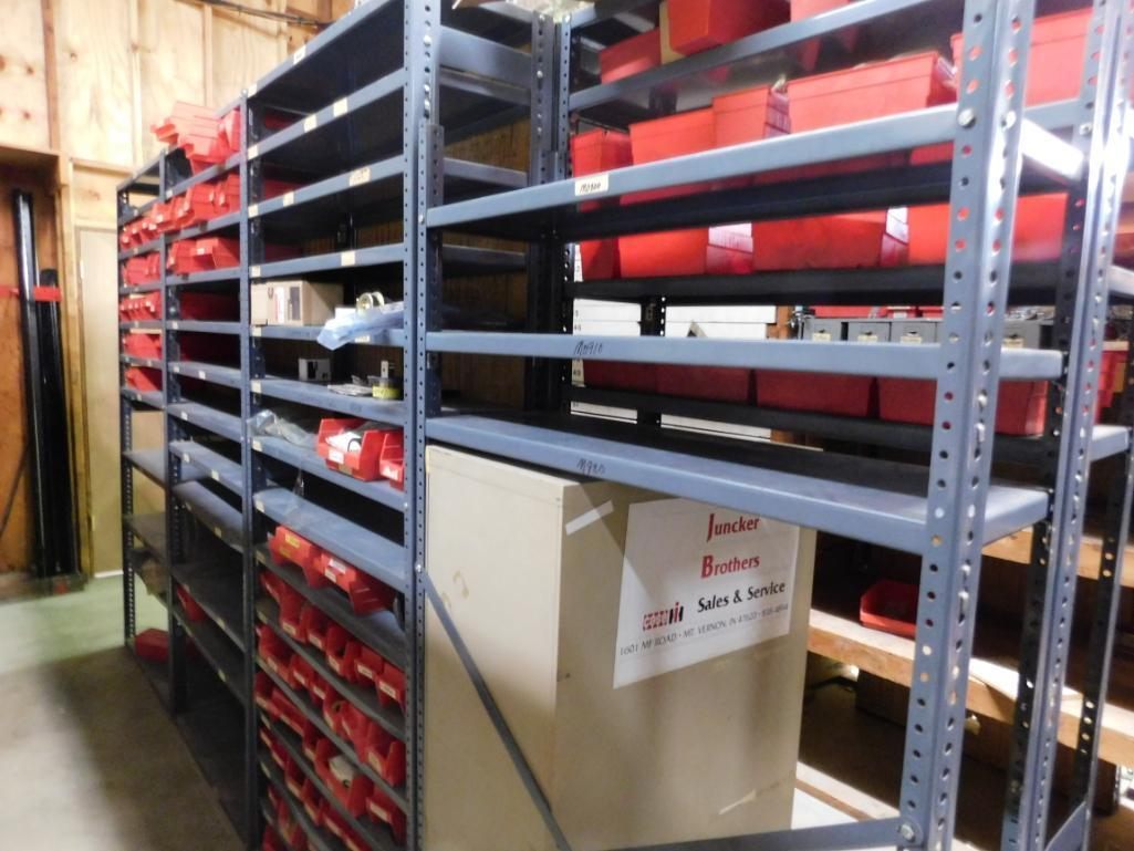 LOT: (1) Row of Steel Shelving (both sides) with Contents of Fertilizer Knives & Accessories, Hardwa - Image 3 of 5