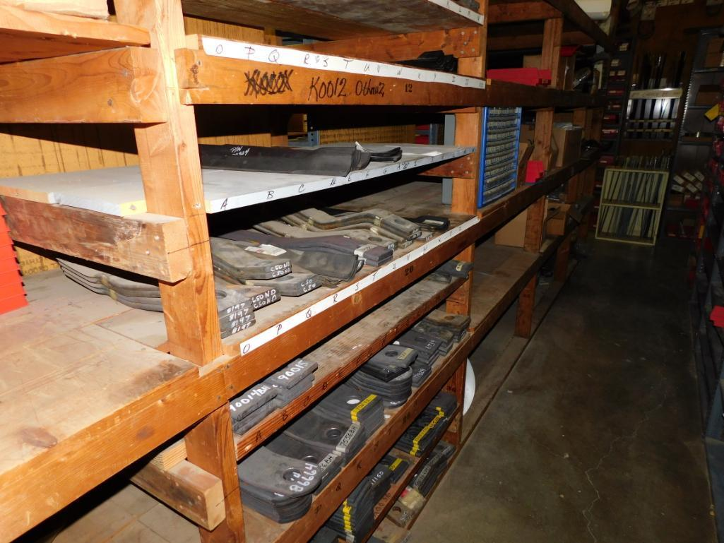 LOT: (1) Row of Shelving (both sides) with Contents of Hardware, Hubs, Bearing Kits, Bush Hog Parts, - Image 3 of 4
