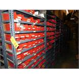 LOT: (1) Row of Steel Shelving (both sides) with Contents of Fertilizer Knives & Accessories, Hardwa