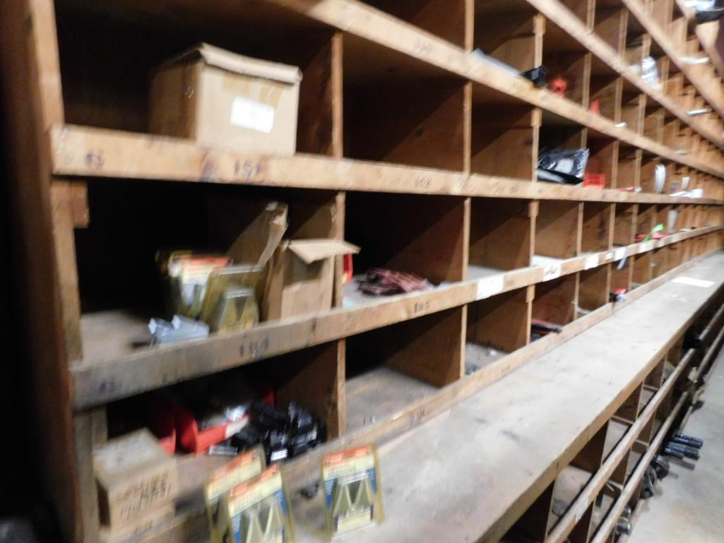 LOT: Wood Parts Bins with Contents of Knives, Shafts, Scraper Discs, Feed Tubes, etc. - Image 3 of 4