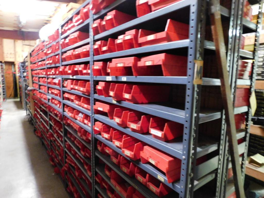 LOT: (1) Row of Steel Shelving (both sides) with Contents of Fertilizer Knives & Accessories, Hardwa - Image 5 of 5