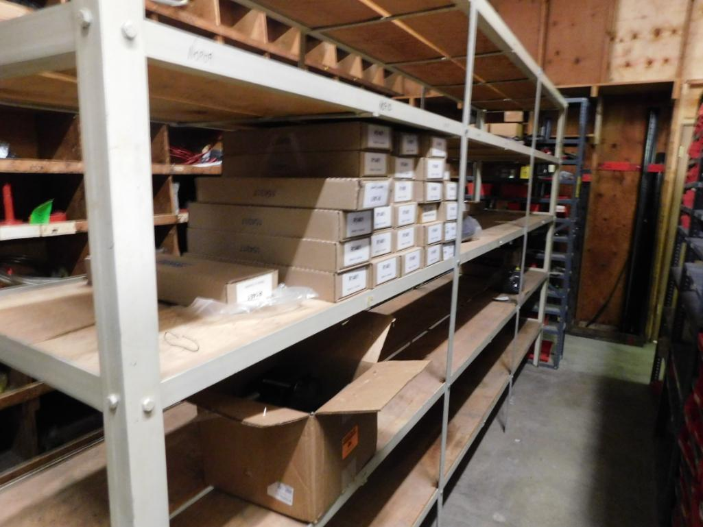 LOT: (1) Row of Steel Shelving (both sides) with Contents of Hardware, Bushings, Pulleys, Sprockets, - Image 3 of 3