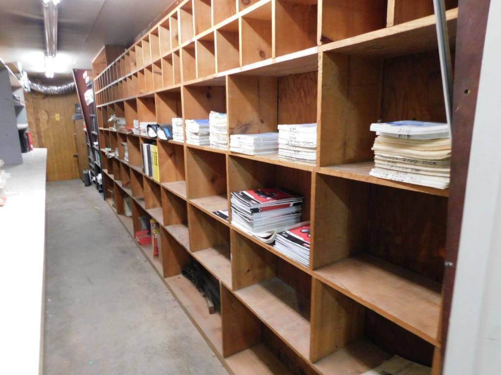 LOT: Contents of Room including Assorted Owners Manuals, Service Manuals & Operators Manuals