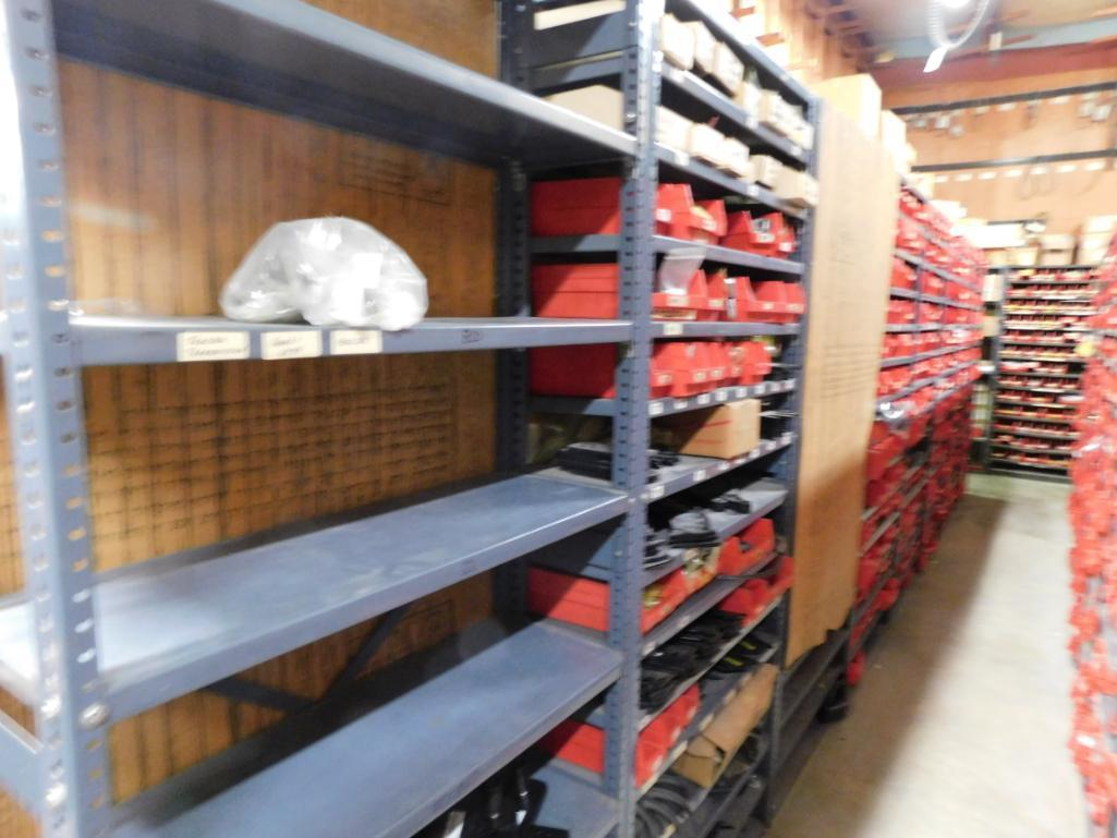 LOT: (1) Row of Steel Shelving (both sides) with Contents of Fertilizer Knives & Accessories, Hardwa - Image 4 of 5