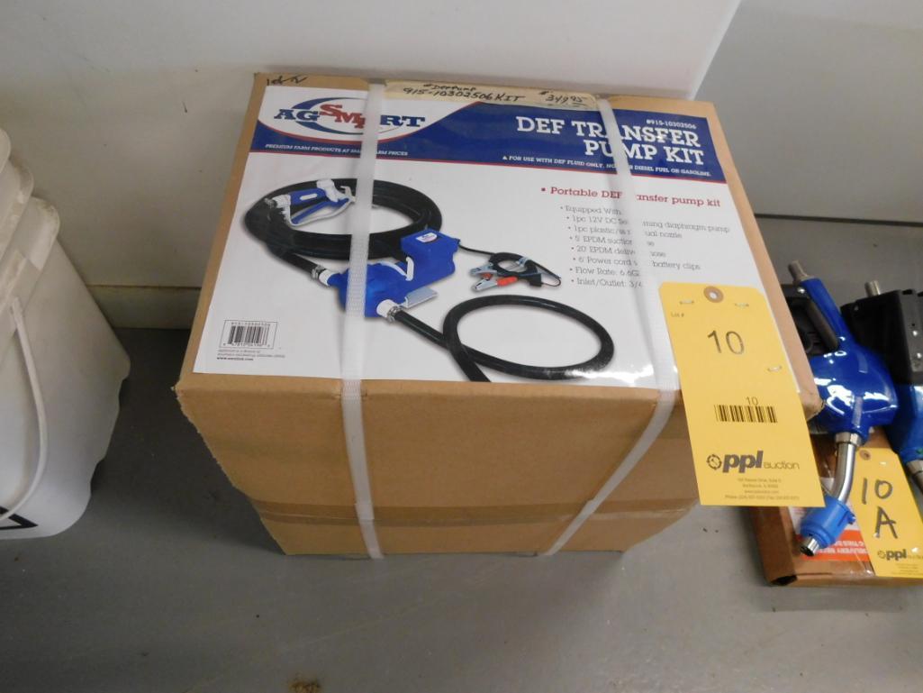 AG Smart Portable Diesel Exhaust Fluid Transfer Pump Kit (new)