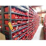 LOT: (1) Row of Steel Shelving (both sides) with Contents of Hardware, Bushings, Pulleys, Sprockets,