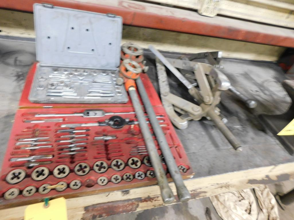LOT: Threading Tools & (2) Large Gear Pullers