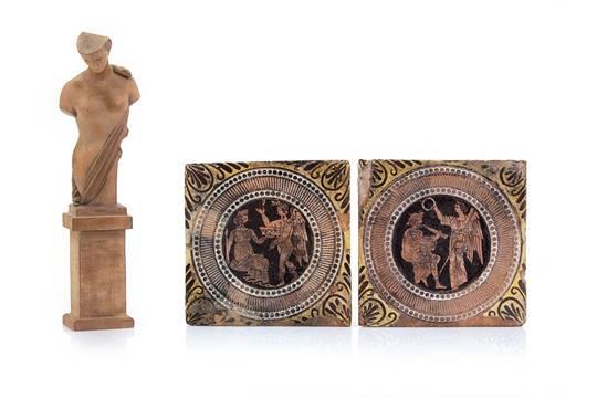 Giustiniani coppia di piastrelle da rivestimento in ceramica e una