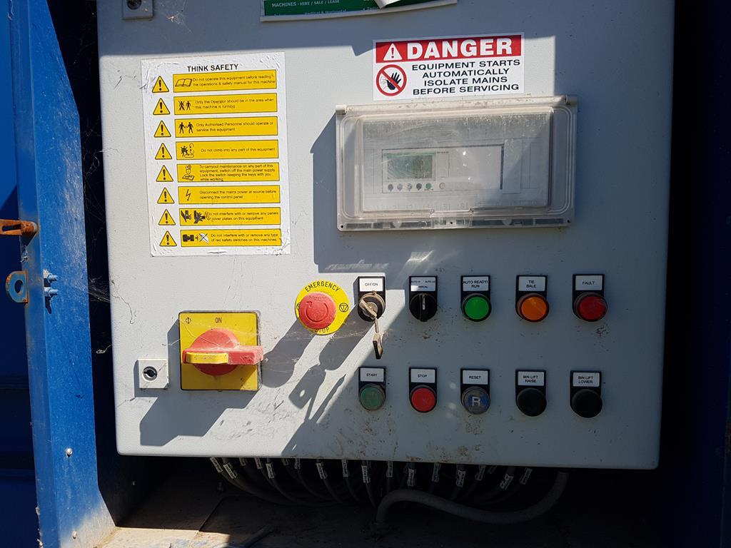 Waste Handling Solutions 80 tonnes capacity horizontal Baler - Image 12 of 13