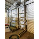 CANTILEVER MATERIAL RACK, 5' X 11', 4' ARMS