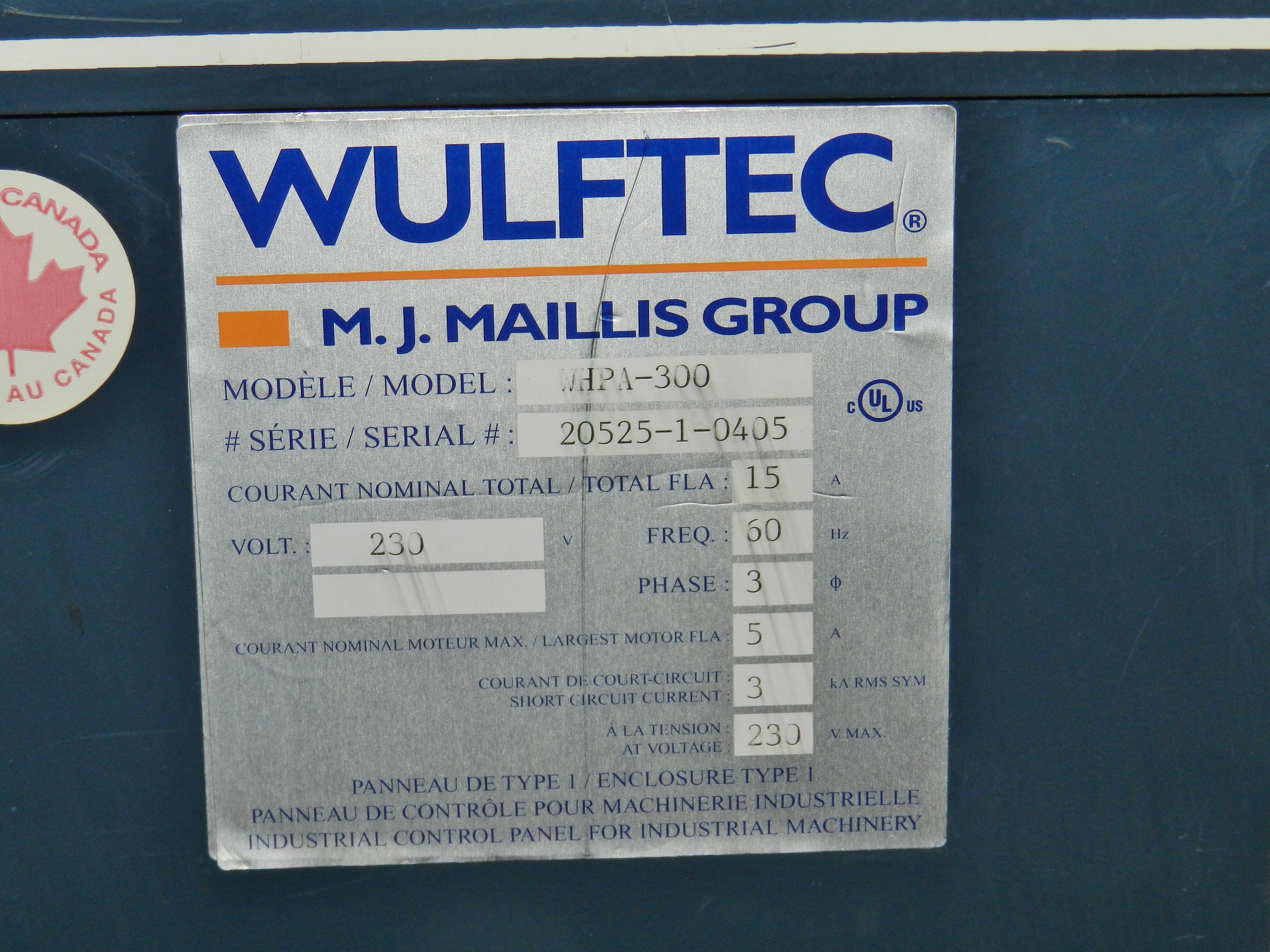 Lot 5 - Wulftec WHPA-300 Stretch Wrapper