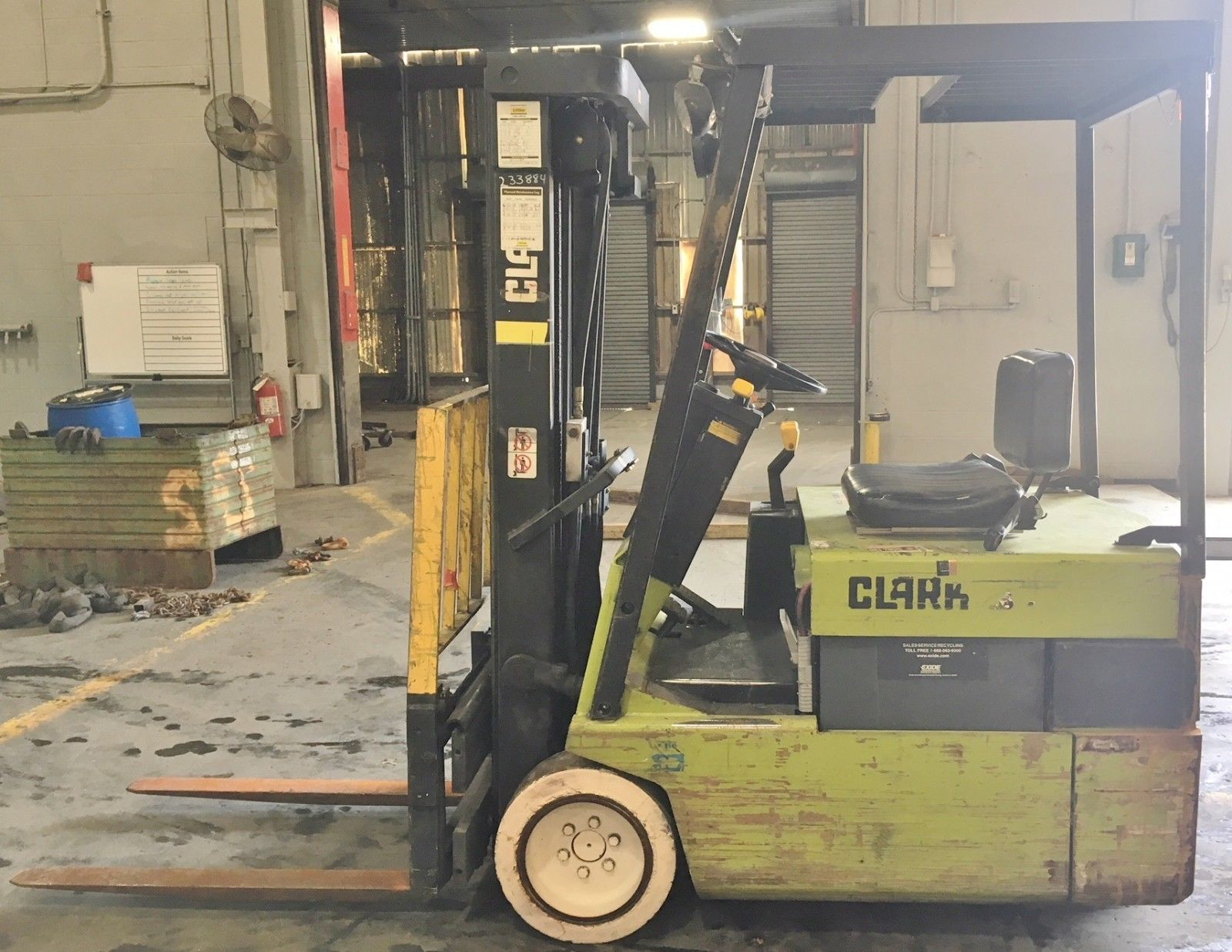 Lot 3 - Clark 2475lb Electric Forklift w/ Side Shift