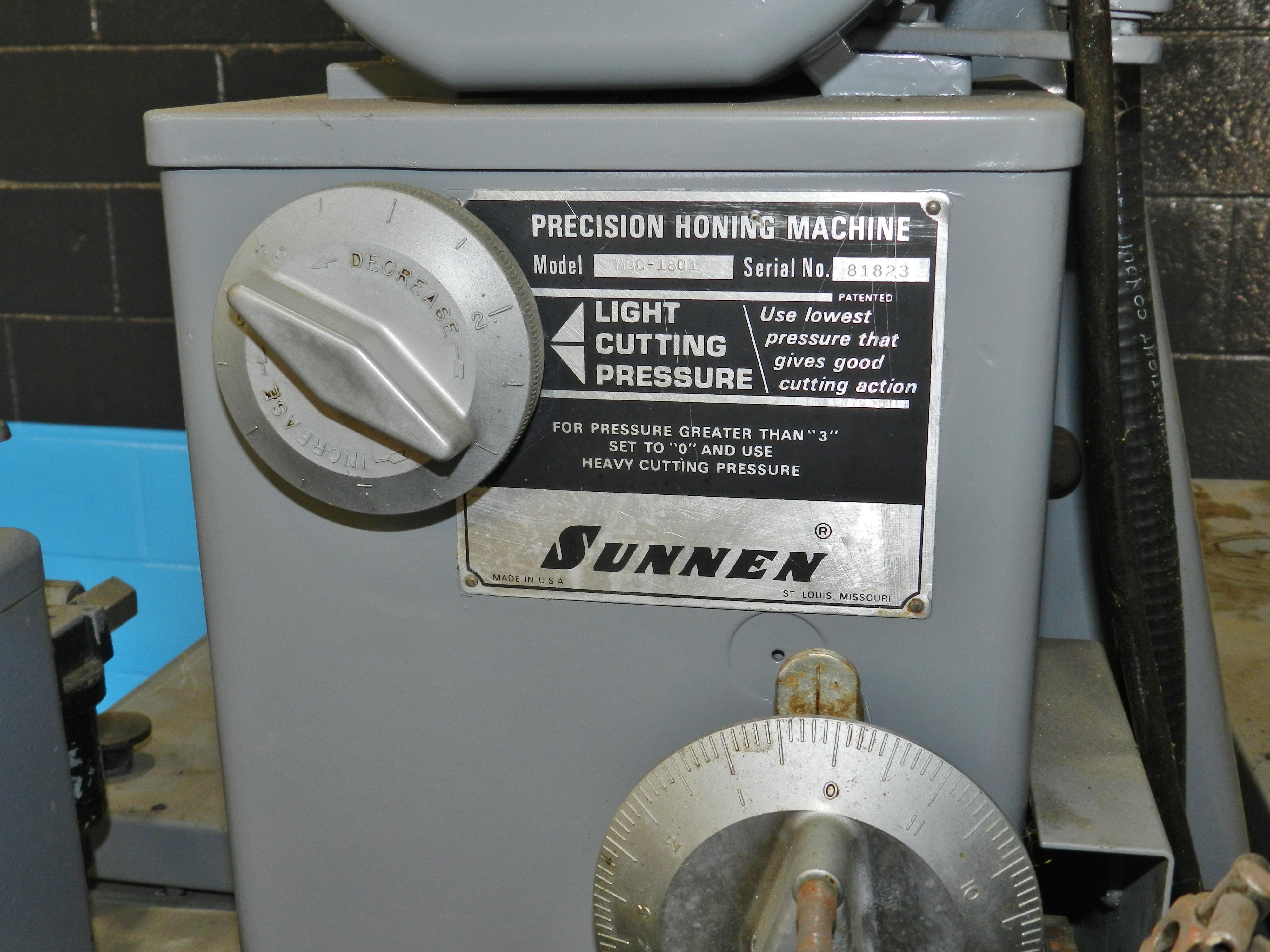 Lot 50 - Sunnen MBC-1801 Honing Machine