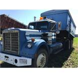1976 White T/A Grain Truck VIN KPNOJHJ640601D 350 Cummins Eng, 15 spd Trans, 18ft Steel Box &