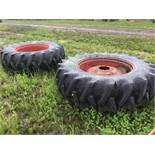 20.8/38 Tires on Rims to fit 1466 IH Tractor
