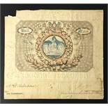 TICKET FOR WESTMINSTER ABBEY CORONATION OF GEORGE IV 1821