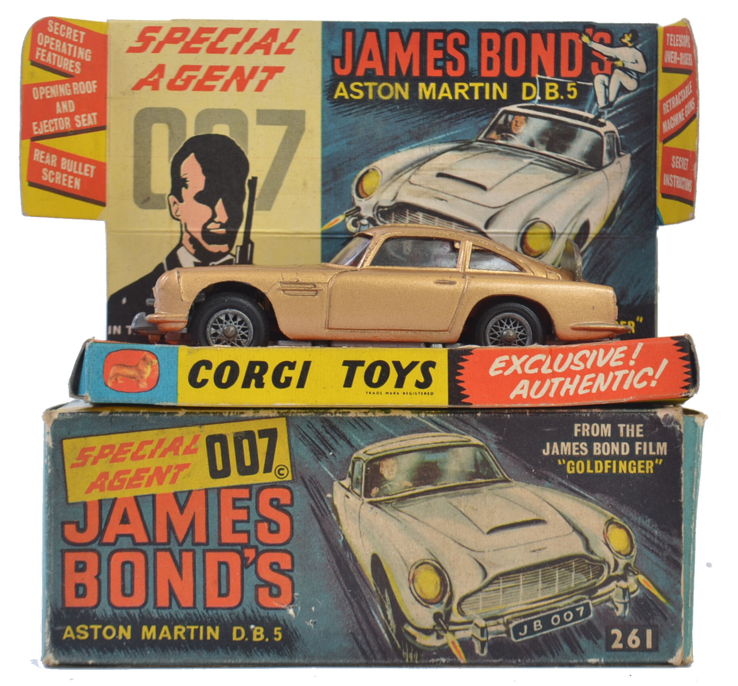 corgi james bond 261: an original vintage corgi james bond aston