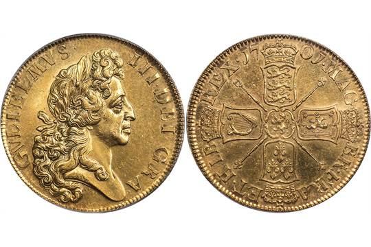 foto de BRITISH COINS, William III, five guineas, 1701, D. TERTIO, 'fine ...