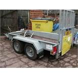 Indespension 2 axle 8' x 4' PLANT TRAILER, 2,700kg capacity, serial no 246639
