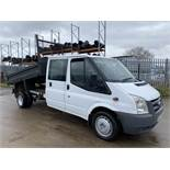 """On Sale FORD TRANSIT T350L 2.4TDCI """"LWB"""" DOUBLE CAB TIPPER TRUCK - 2012 MODEL - LOW MILES - LOOK!!!"""