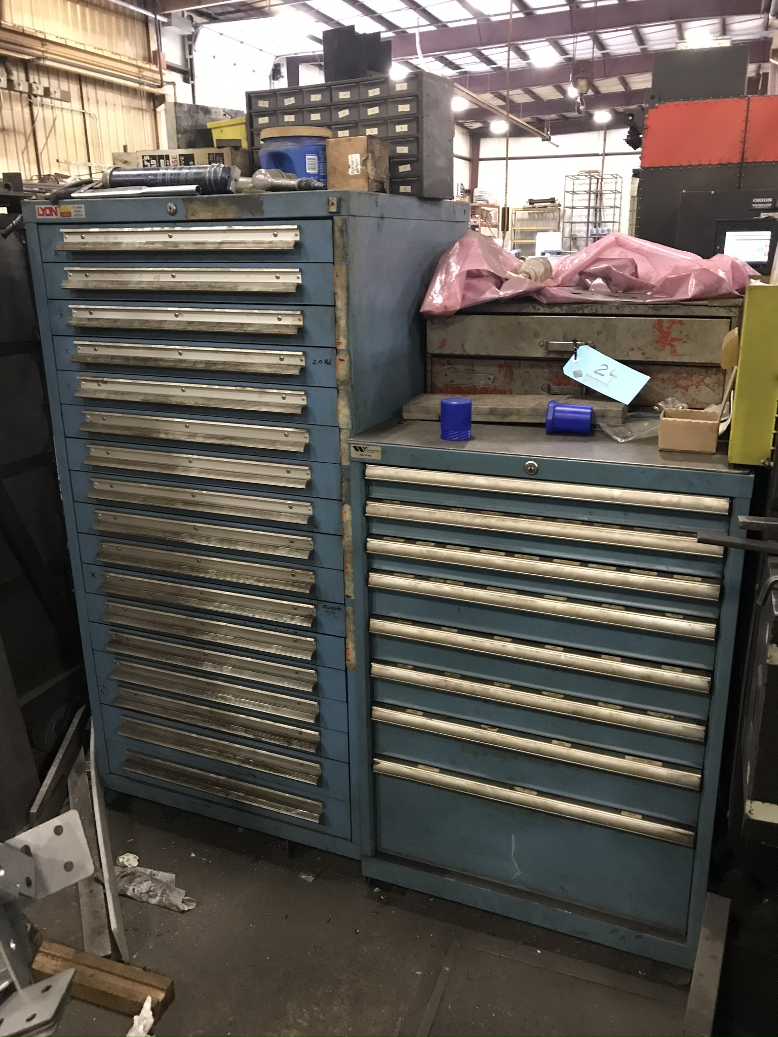 (2) Cabinets Complete with Amada Thick Style Tooling (Cabinets Included)