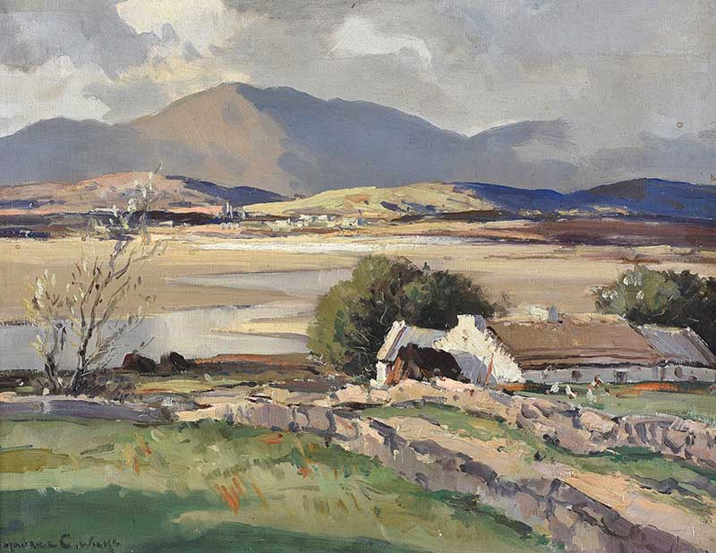 Lot 1 - Maurice Canning Wilks, ARHA RUA - ABOVE DUNFANAGHY, DONEGAL - Oil on Board - 16 x 20 inches - Signed