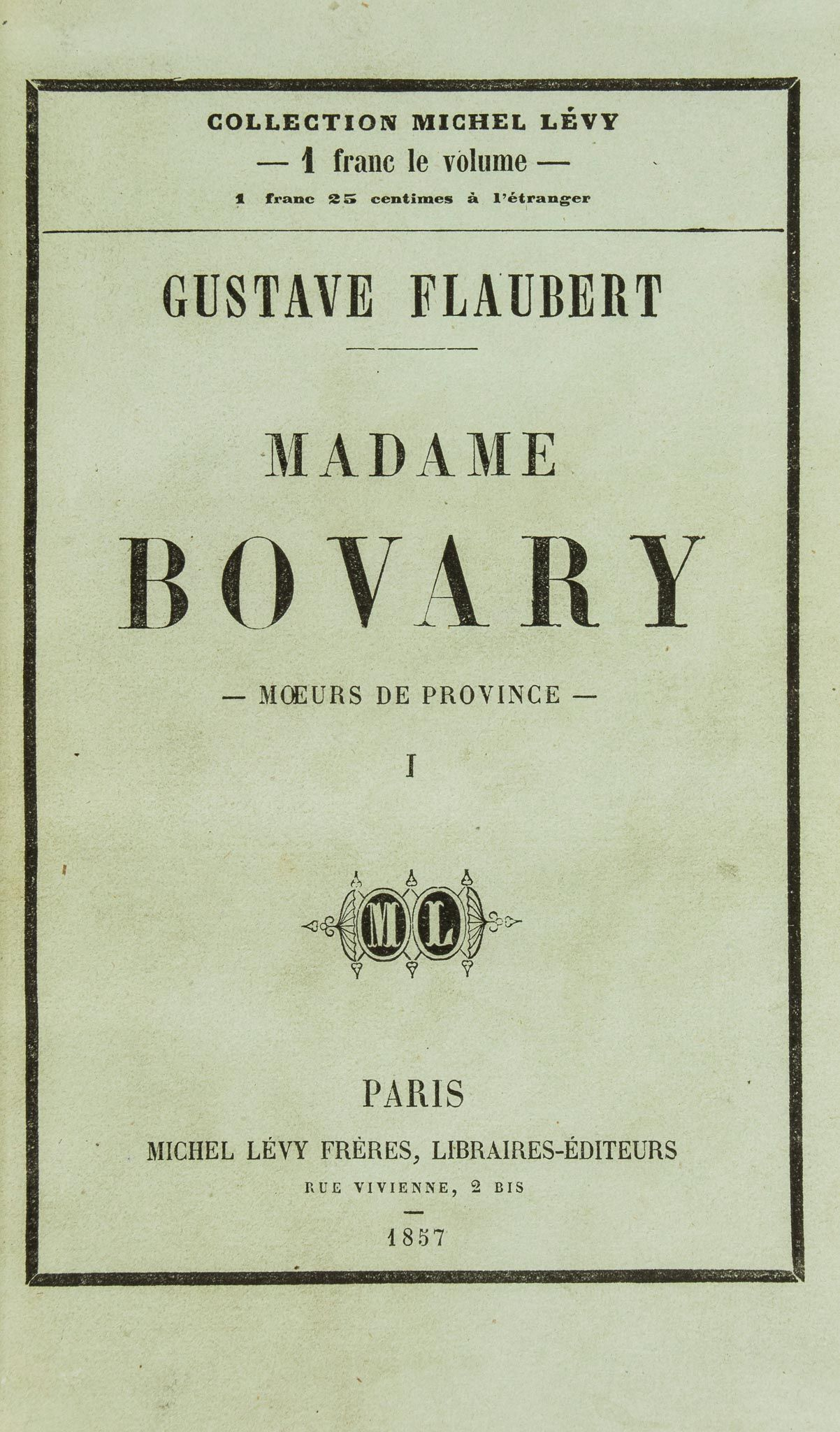 a symmetry of narrative in gustave flauberts madame bovary Gustave flaubert's madame bovary pushed the limits of convention in more  ways than one not only did the book test moral conventions by sympathetically.
