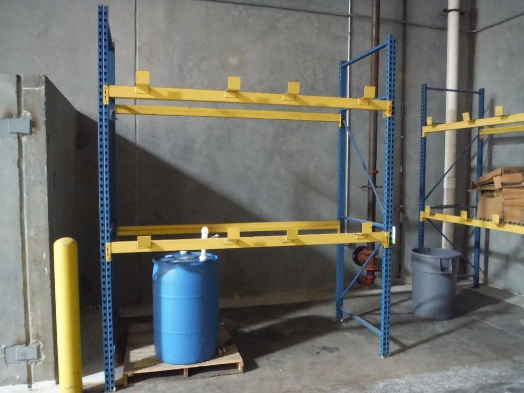 (1) sections of pallet racking, 96 in. long x 42. in deep x 120 in. tall / Rigging Fee: $80