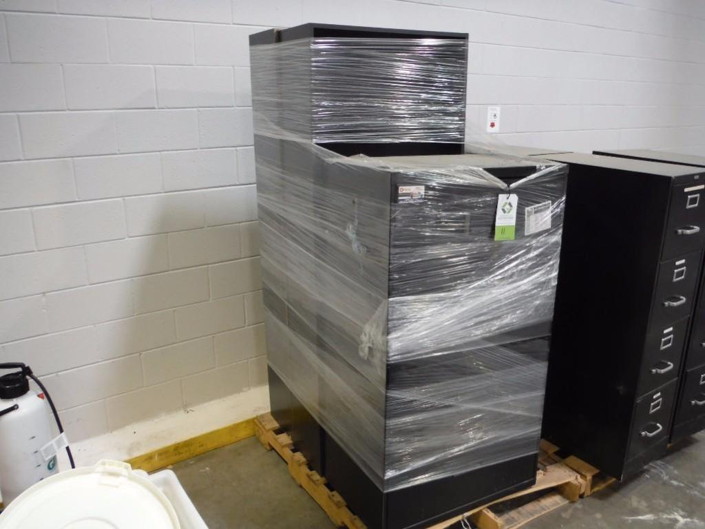 (1) lateral filing cabinet and (2) book cases / Rigging Fee: $50