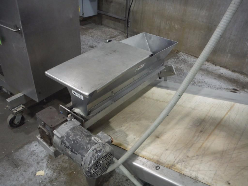 Make-up table with poly sheeter, multiroller, 2 flour dusters, overhead scrap conveyor, guillotine, - Image 2 of 12