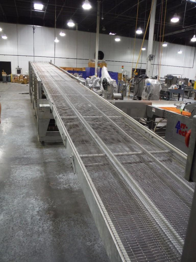 Lawrence equipment cooling conveyor, 50 ft. long x 36 in. wide x 38 in. infeed x 40 in.discharge, 9 - Image 3 of 4