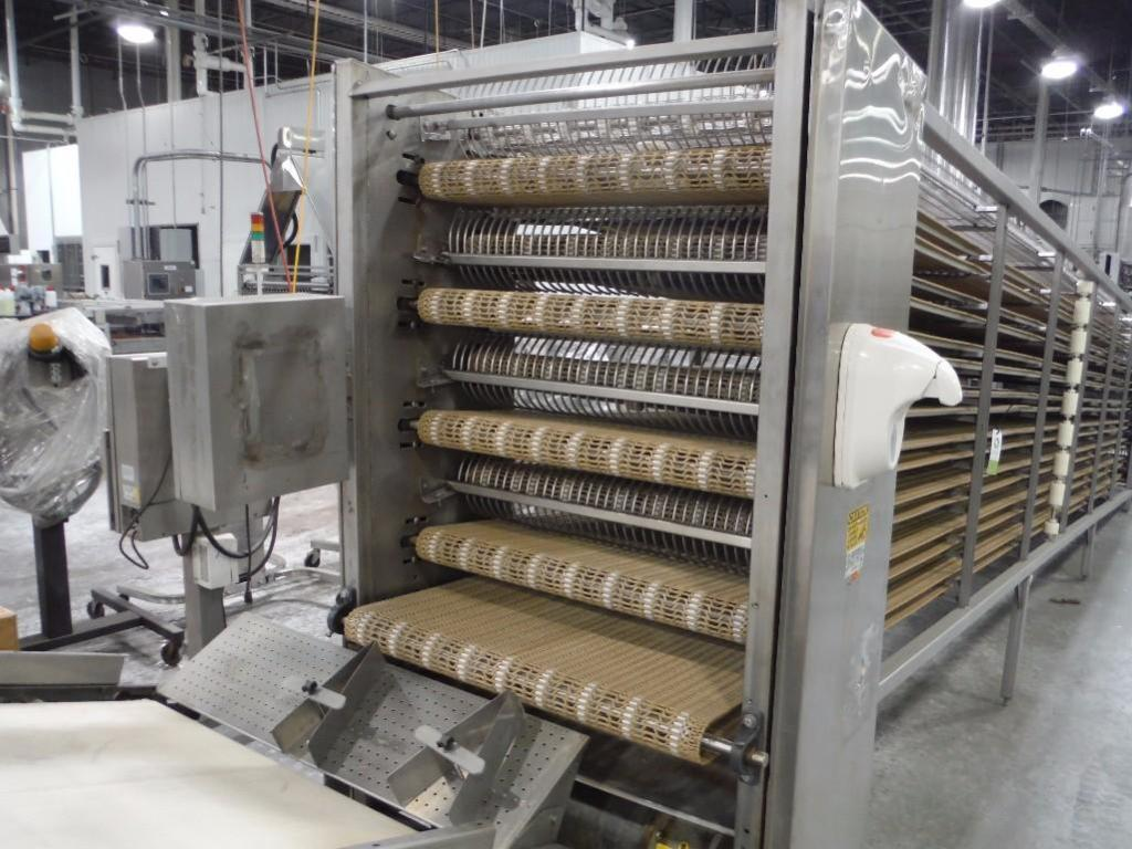 Lawrence equipment cooling conveyor, 50 ft. long x 36 in. wide x 38 in. infeed x 40 in.discharge, 9 - Image 2 of 4