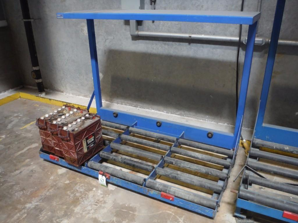 Pro series 3 spot forklift battery station, 74 in. long x 40 in. deep / Rigging Fee: $50