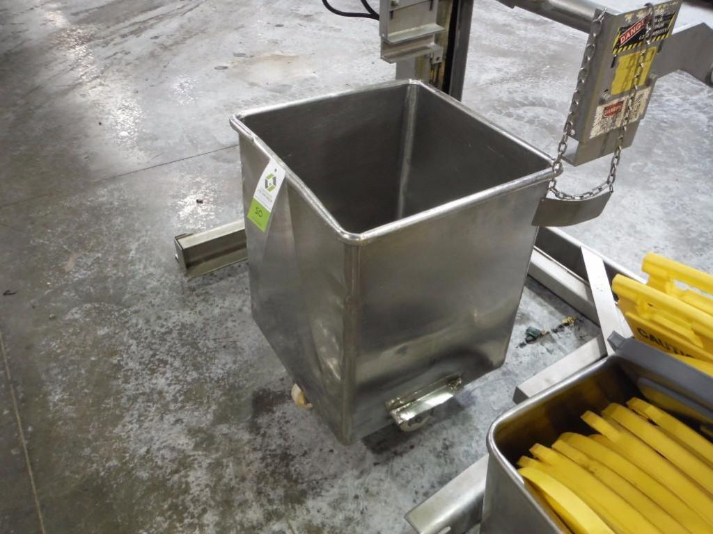 SS tote, 25 in. x 25 in. x 30 in. deep / Rigging Fee: $20