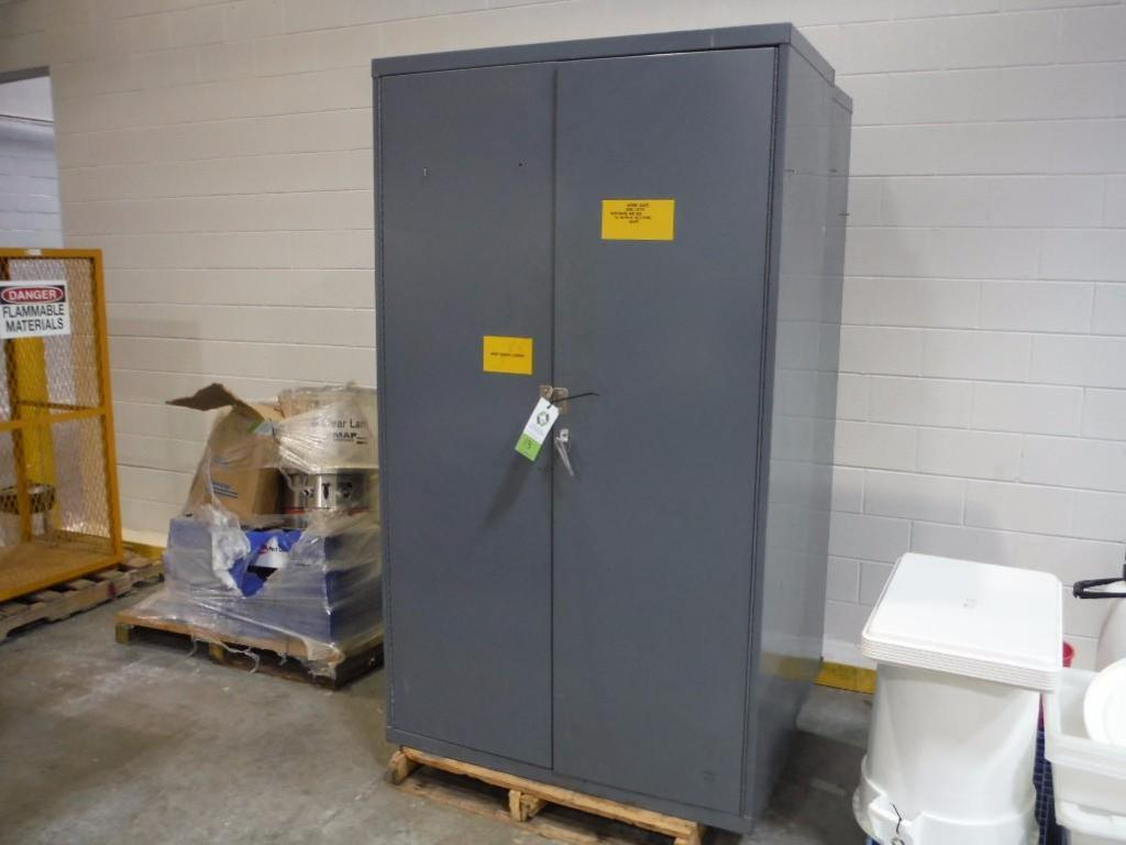 (2) mild steel storage cabinets / Rigging Fee: $50