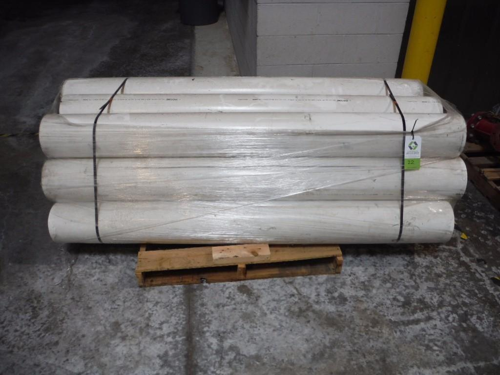 (12) pvc pipes, 8 in. dia x 80 in. long / Rigging Fee: $25