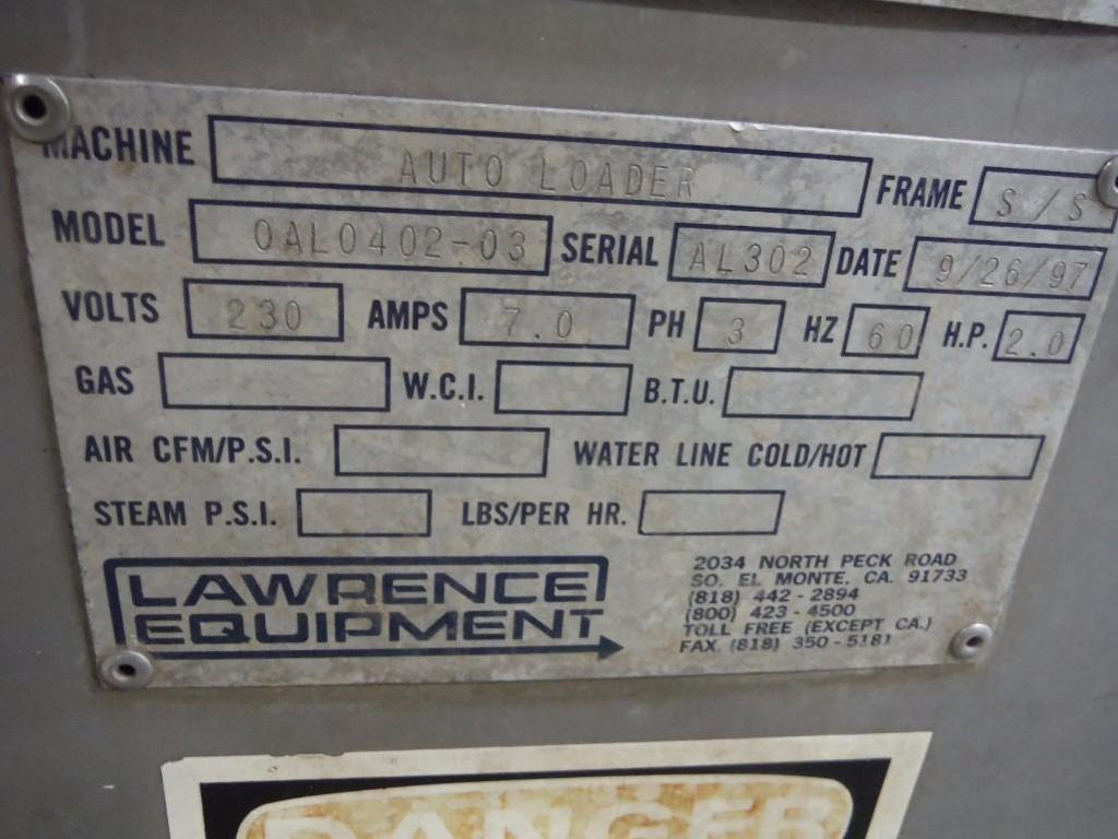 Lawrence equipment autoload proofer, Model OAL0402-03, SN AL302, with steam control / Rigging Fee: $ - Image 5 of 7