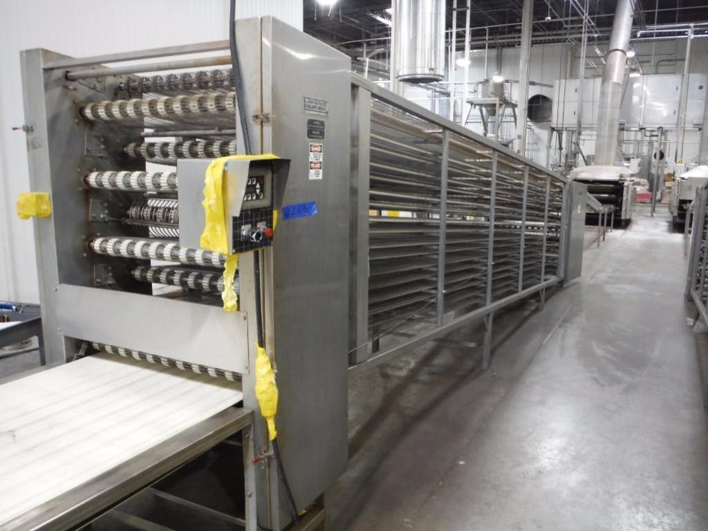 Lawrence equipment cooling conveyor, 50 ft. long x 36 in. wide x 28 in. infeed x 38 in.discharge, 9 - Image 7 of 8