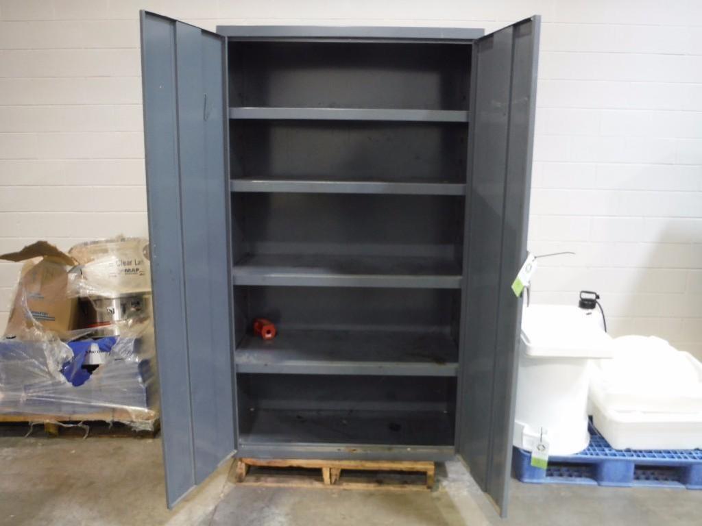 (2) mild steel storage cabinets / Rigging Fee: $50 - Image 2 of 2